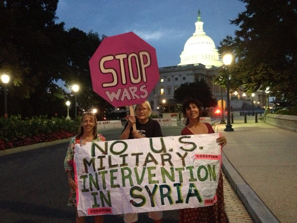 Codepink Women for Peace Protest Syria Strike at Capitol Hill