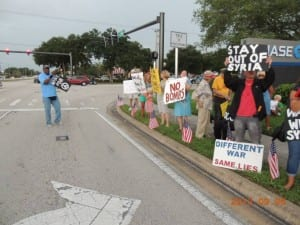 Melbourne, FL Peace Activists Oppose Invasion of Syria