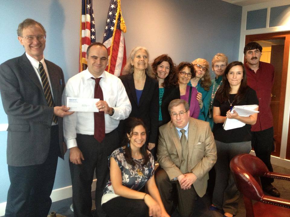Peace Action organized delegation delivered a letter to Sen Ed Markey's staff